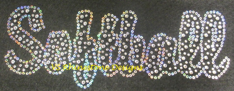 Softball Rhinestone and Sequin Transfer Combo (1)